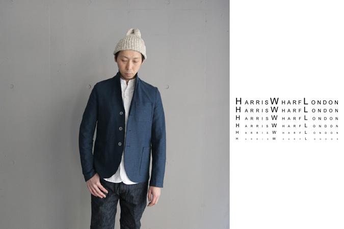 harris wharf london boxy jacket cb linen honey comb 3b navy blue. Black Bedroom Furniture Sets. Home Design Ideas